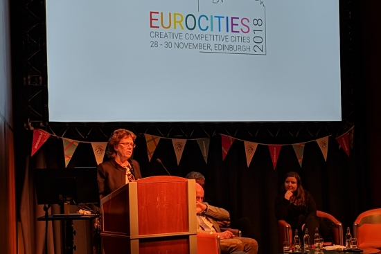 Cllr Blake at EUROCITIES 2018